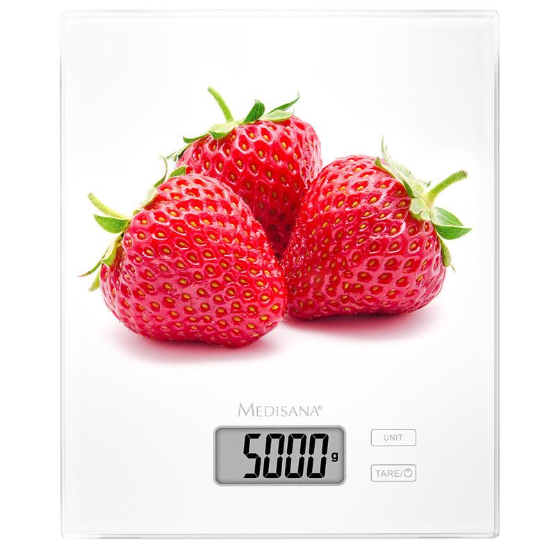Medisana KS 210 digitální kuchyňská váha s motivem jahod