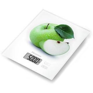 KS 210 digitální kuchyňská váha s motivem zeleného jablka
