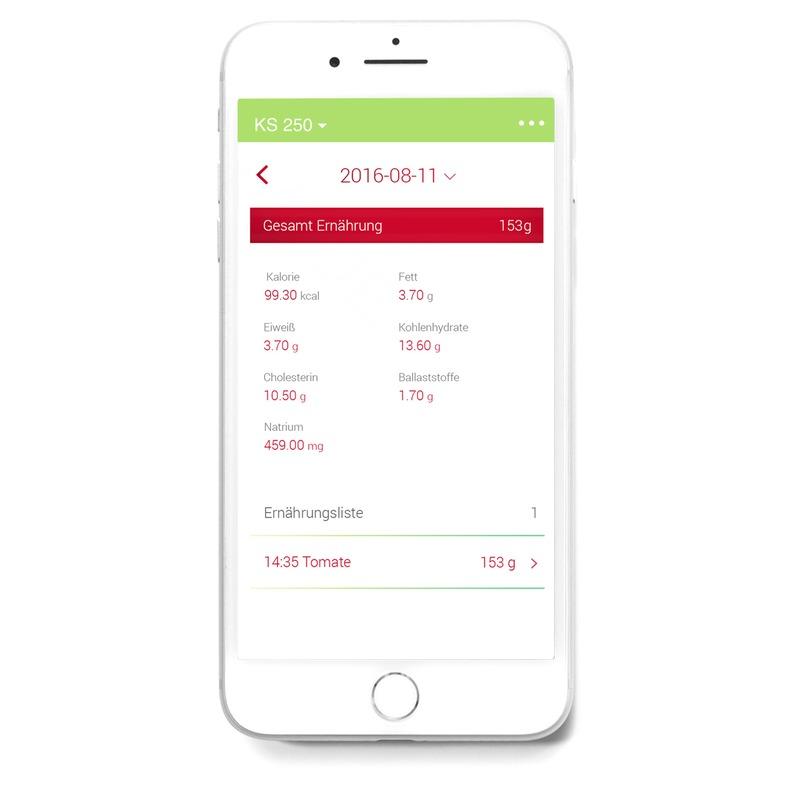 Medisana KS 250 digitální kuchyňská váha s aplikací