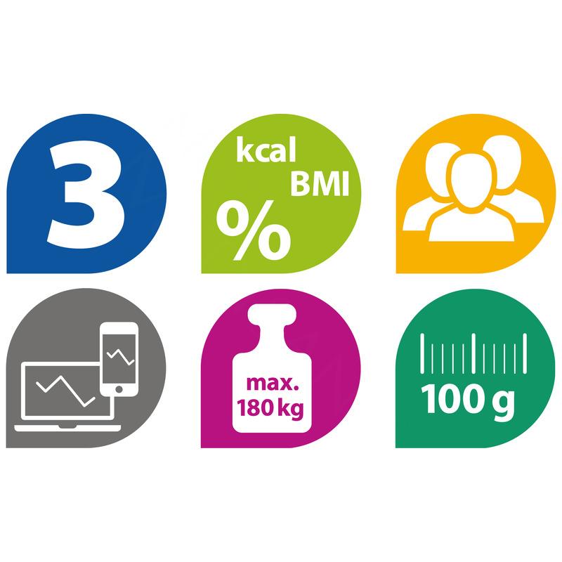 Medisana Digitální váha BS 440 propojitelná se smartphonem černá